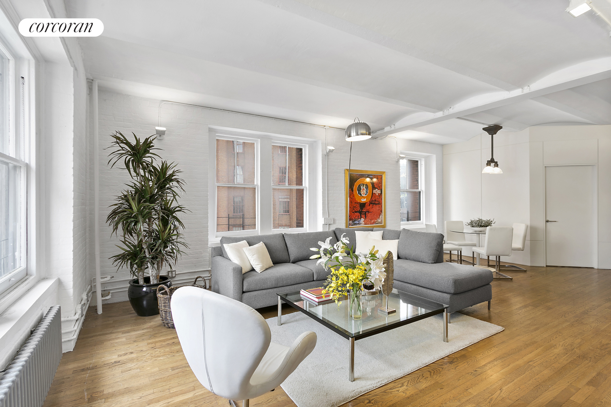 55 HUDSON ST, 8D, Living Room