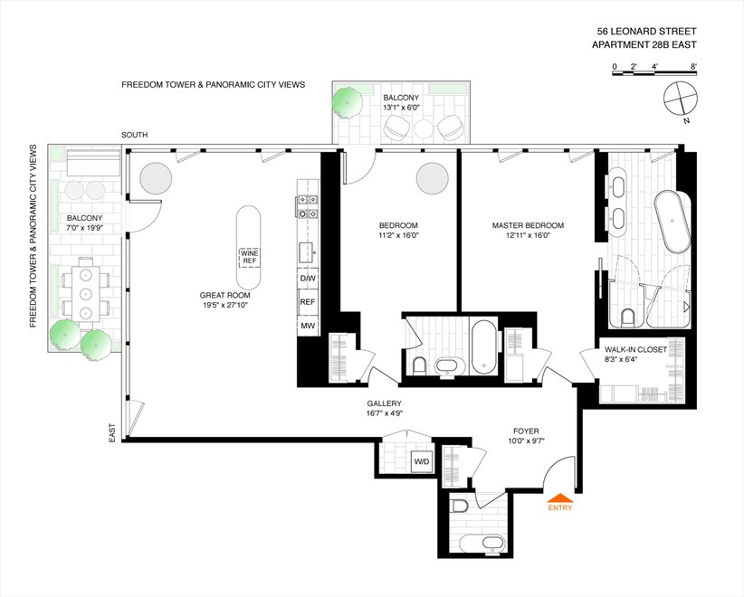 New York City Real Estate | View 56 LEONARD ST, #28B EAST | Floorplan