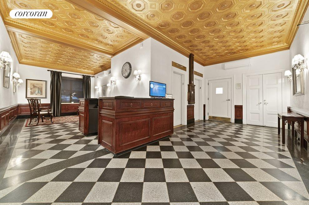New York City Real Estate | View 162 West 56th Street, #1206 | Beautiful Prewar Lobby- 24 hour doorman