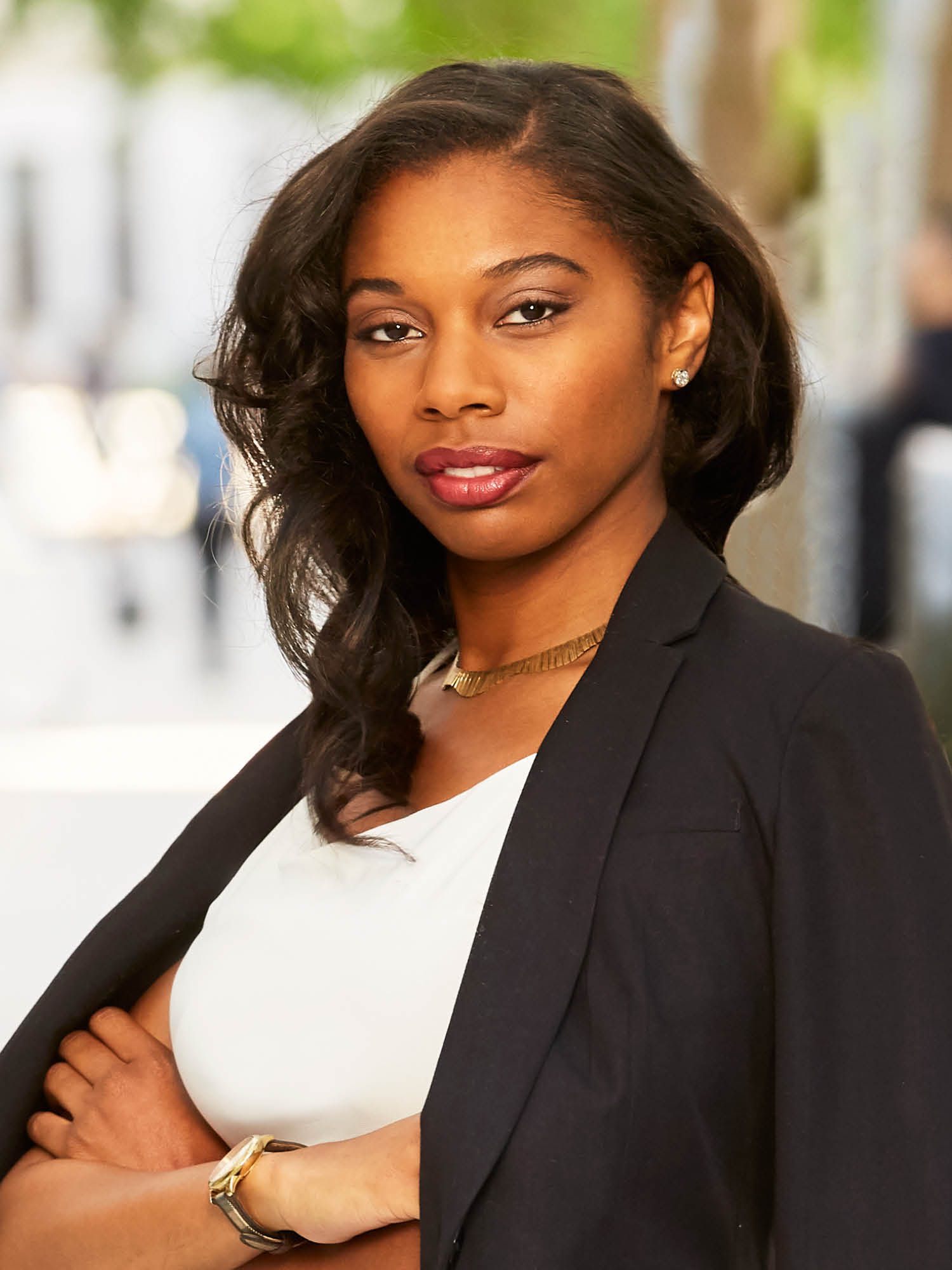Sable Lynch, a top realtor in New York City for Corcoran, a real estate firm in Brooklyn Heights.