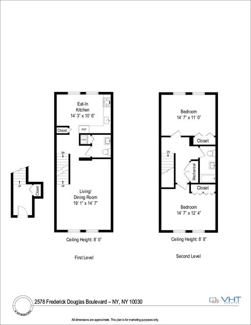 New York City Real Estate | View 2578 Frederick Douglass Boulevard #d | Floorplan