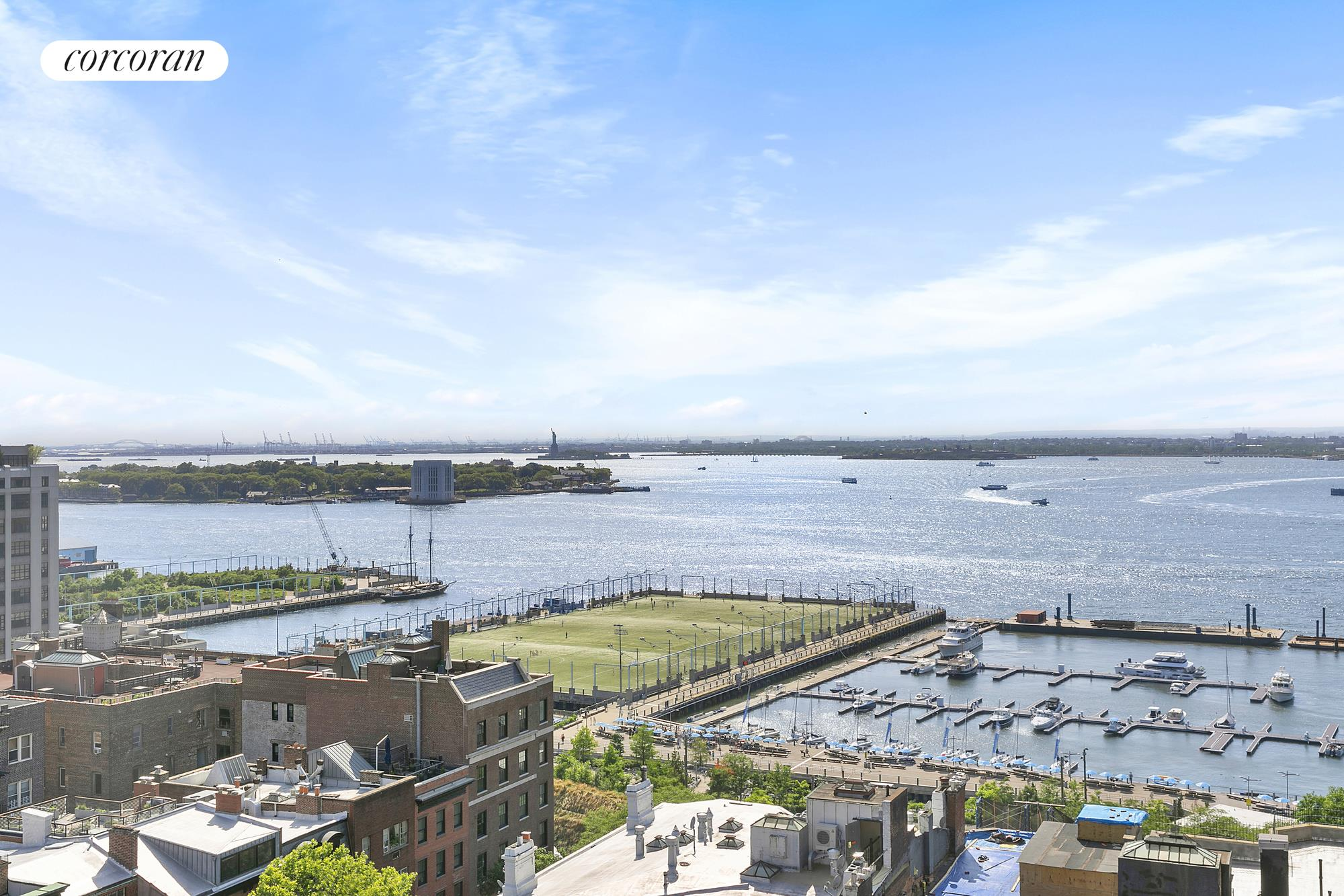 62 Montague Street, 7abe, Generous living room with harbor views
