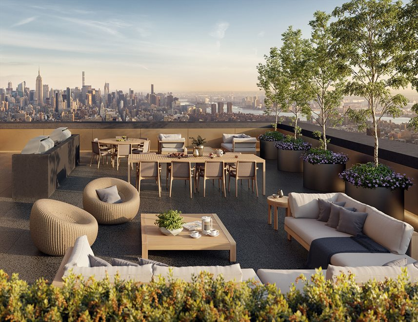 New York City Real Estate | View 130 WILLIAM ST, #26E | Resident Outdoor Terrace
