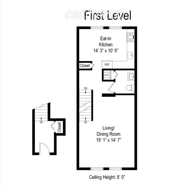 New York City Real Estate | View 2578 Frederick Douglass Boulevard #d | Floor Plan