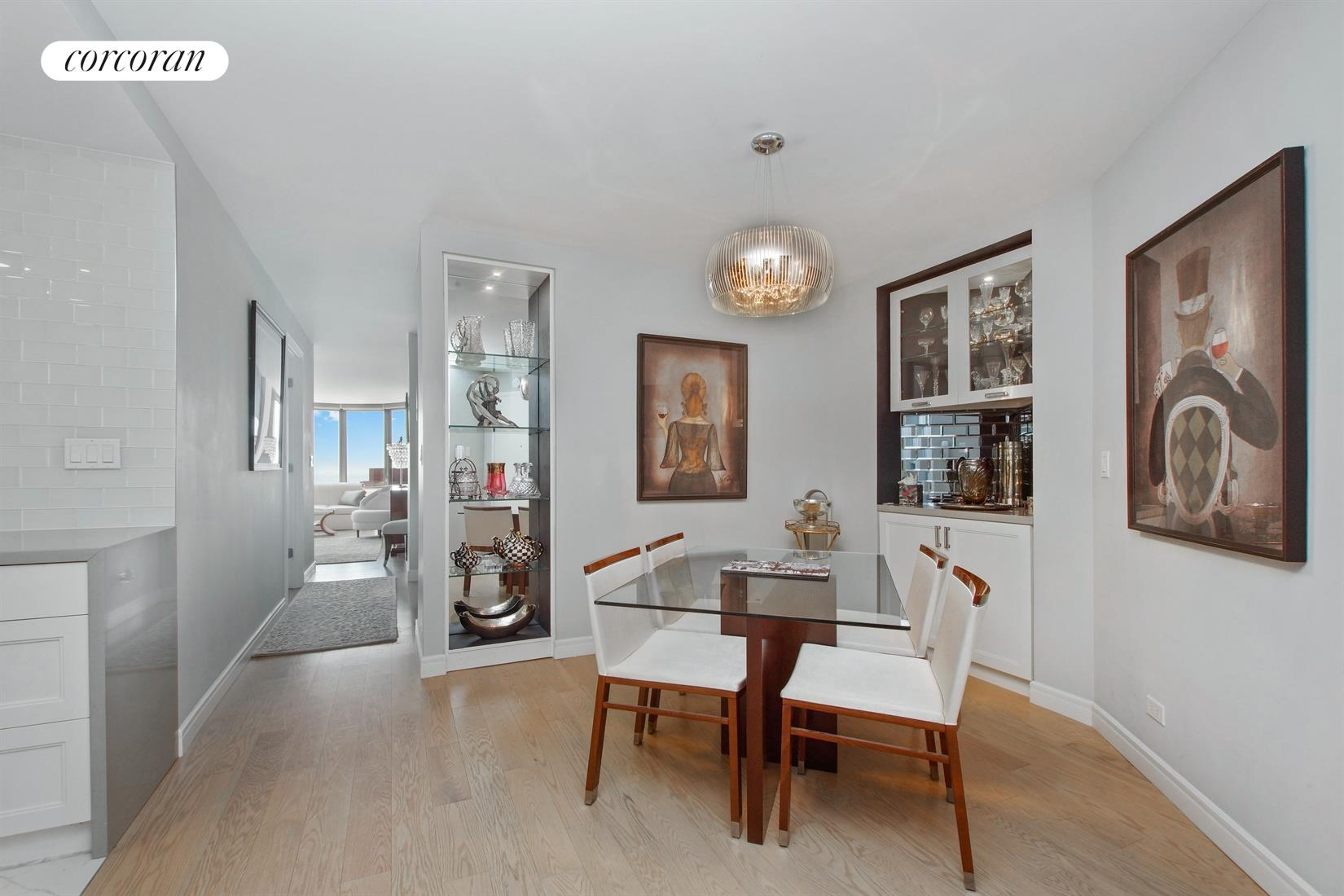 330 East 38th Street, 49K, East Facing Living Room with Glorious River Views