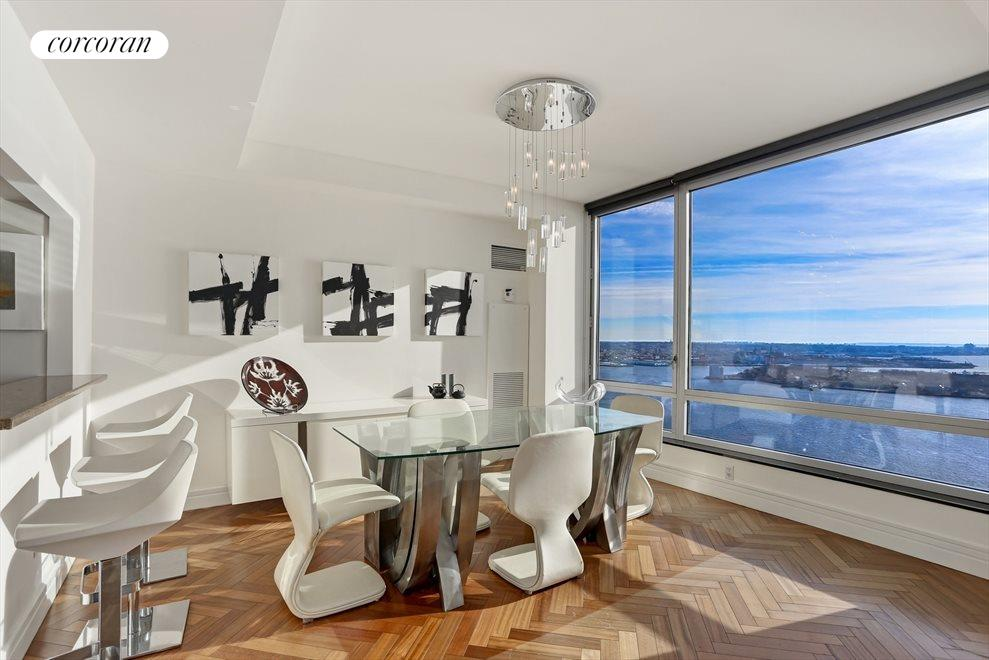 Dining Room with Harbor Views