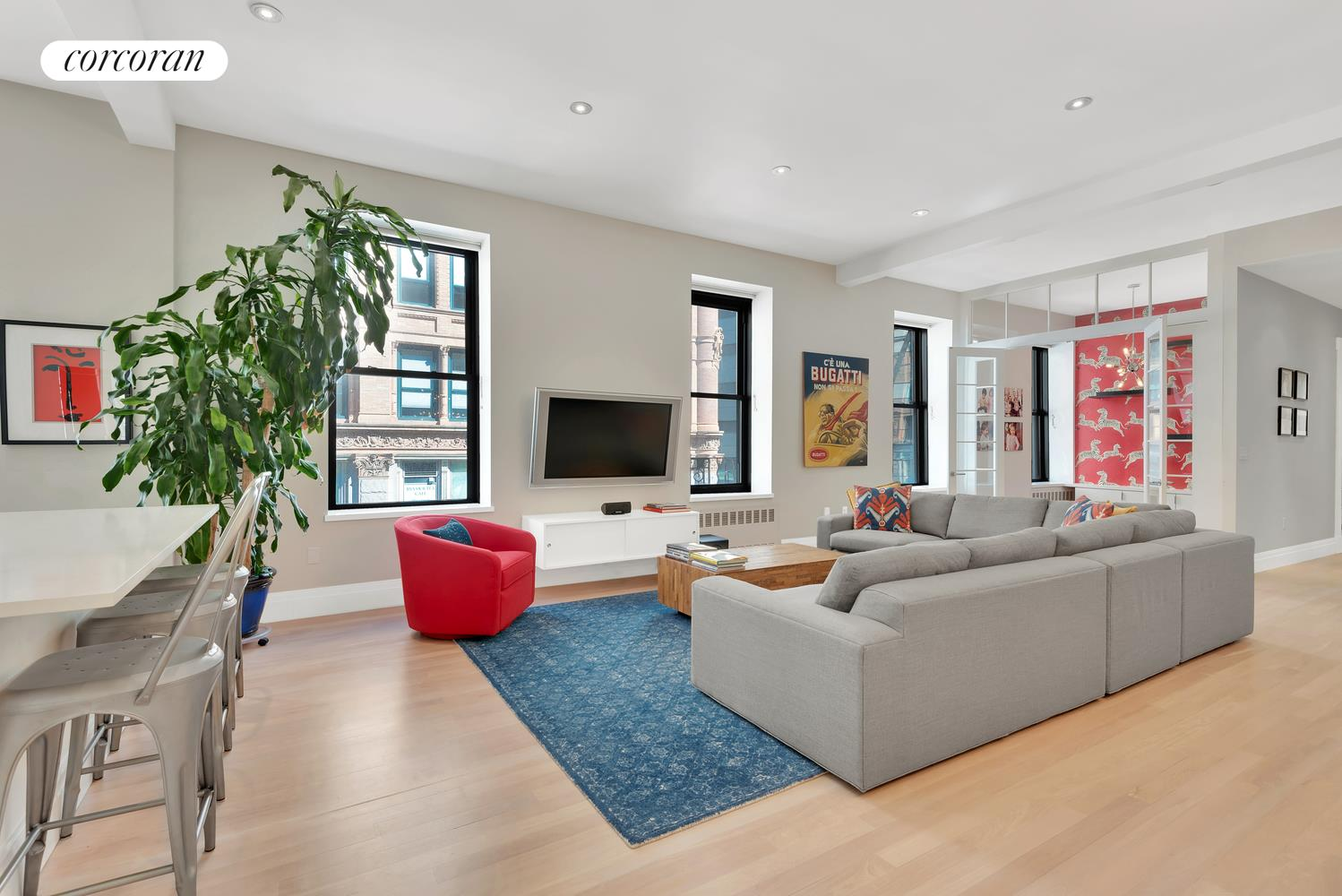 60 East 13th Street, 3E, Living Room