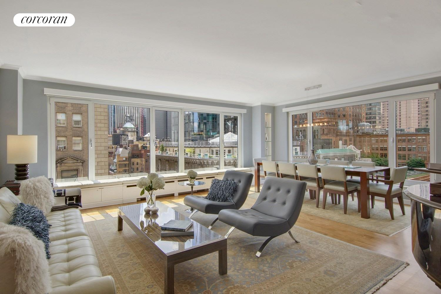 200 Central Park South, 20J, Living Room / Dining Area
