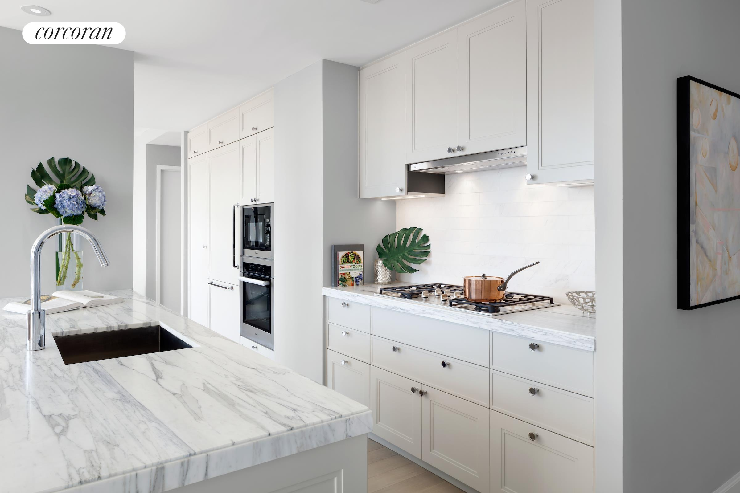 389 East 89th Street, 31A, Open Kitchen with Miele Appliances