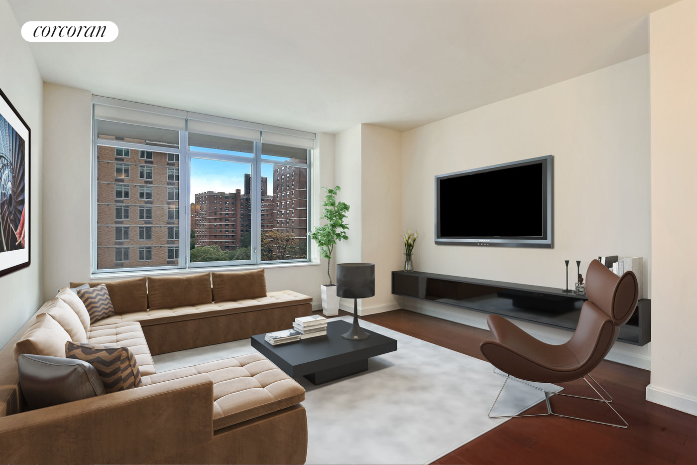 81 Fleet Place, 11Q, Living Room