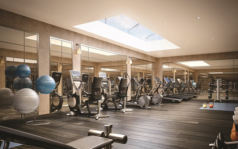 Skylit Fitness Room