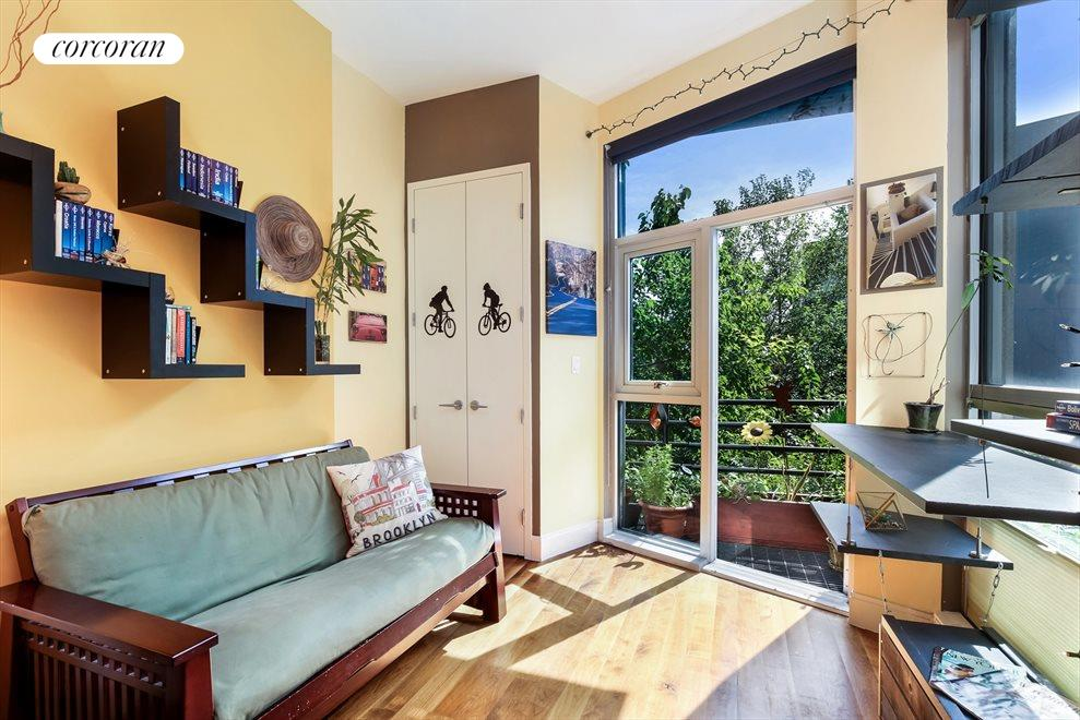 New York City Real Estate | View 655 Washington Avenue, #3A | Terrace Off the Second Bedroom