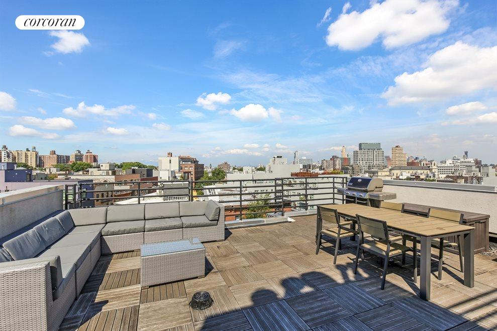 New York City Real Estate | View 655 Washington Avenue, #3A | Common Roof Deck With Forever Views