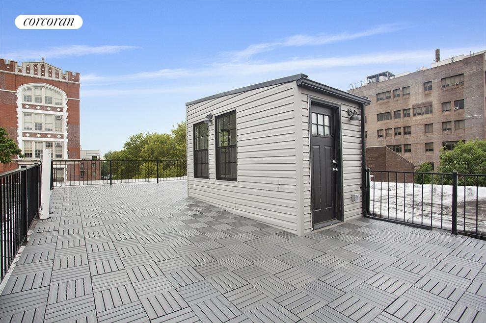 Electrifying roof deck!