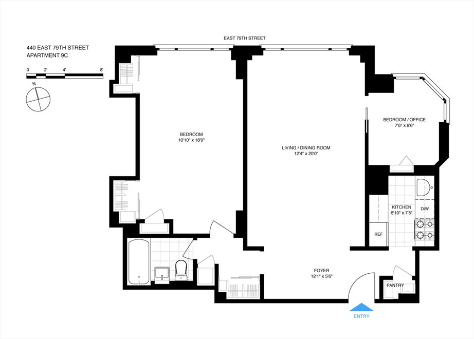 New York City Real Estate | View East 79th Street | Floorplan 2