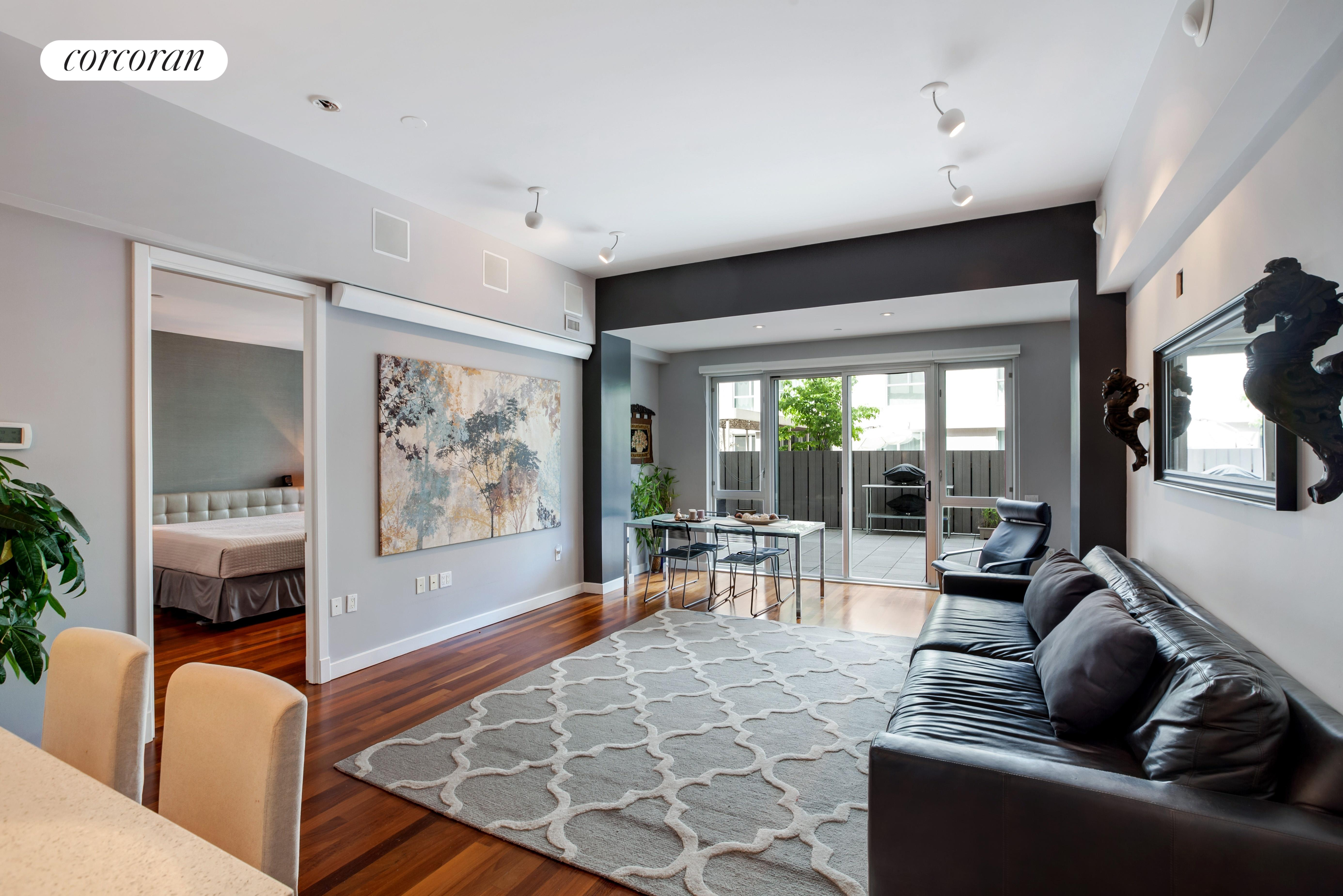 125 North 10th Street, South GB, large living room with high ceilings