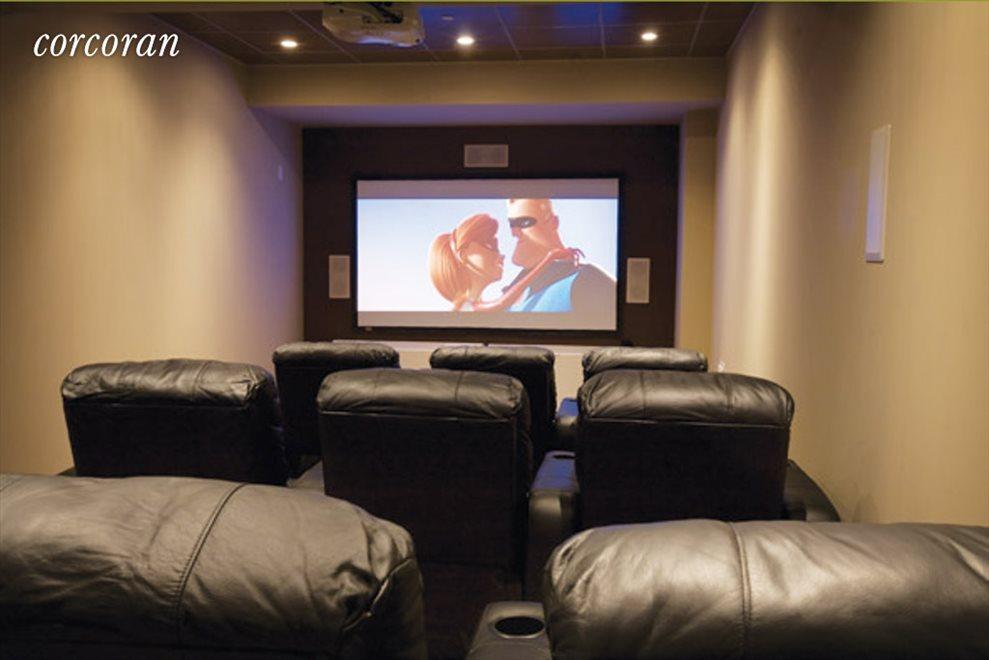 9 seat screening room