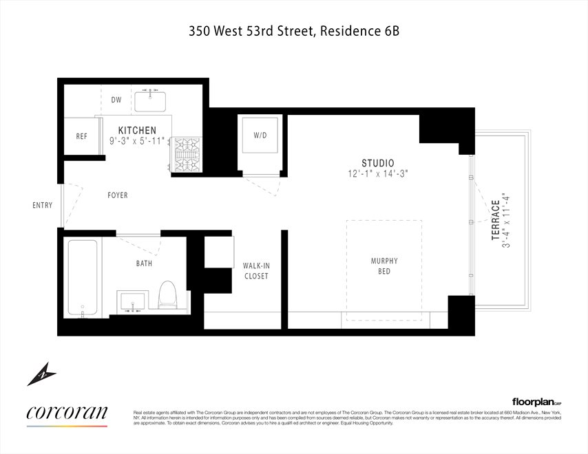 New York City Real Estate | View 350 West 53rd Street, #6B | Floorplan
