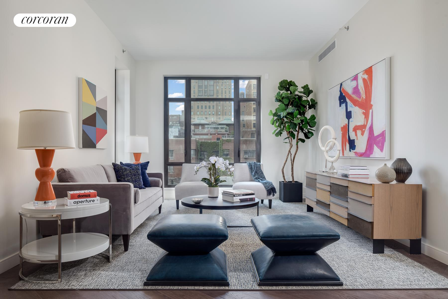 "211 West 14th Street, 5B, 25'-10"" x 12'-11"" Living Room"