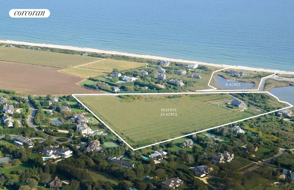 8 acre oceanfront & 23 acre reserve