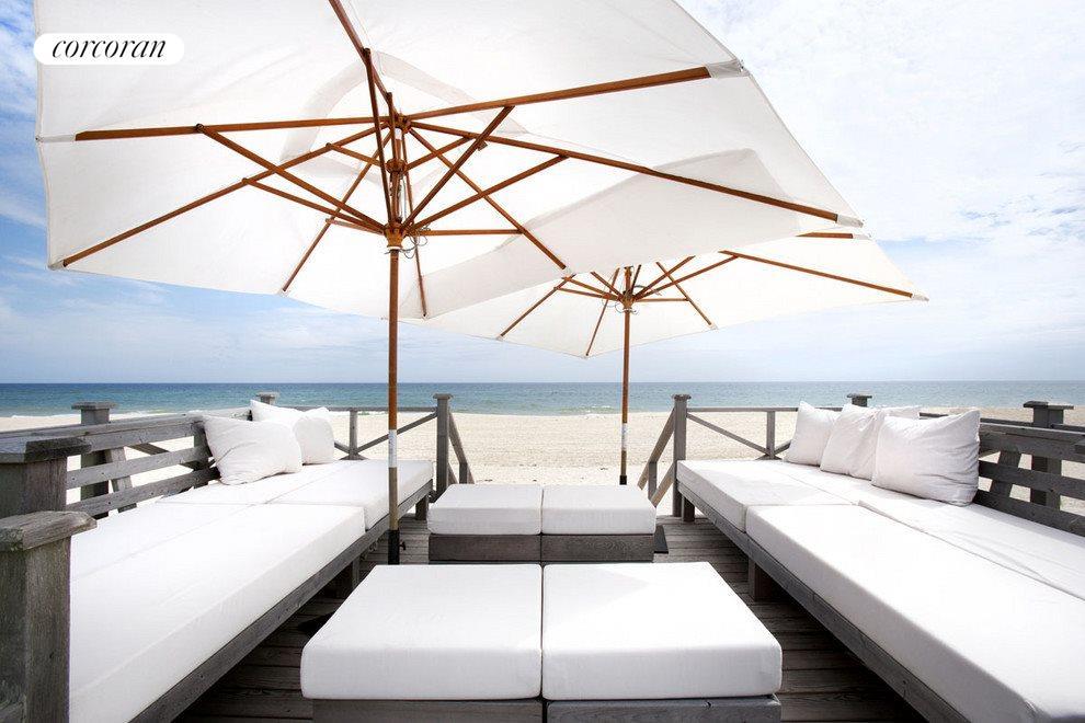 ocean side lounge area