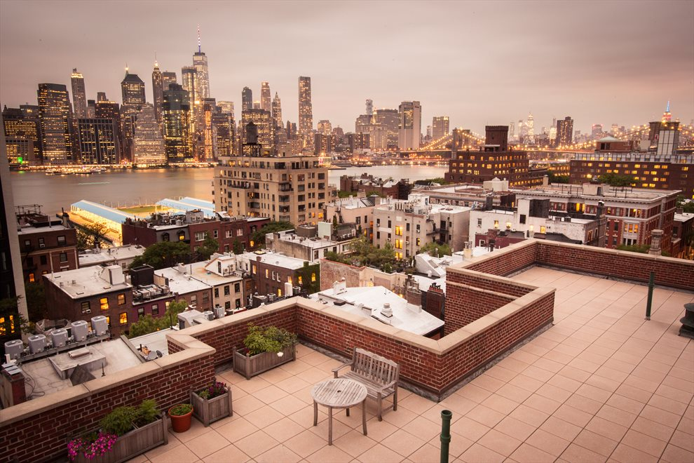Evening View from Common Roof Deck