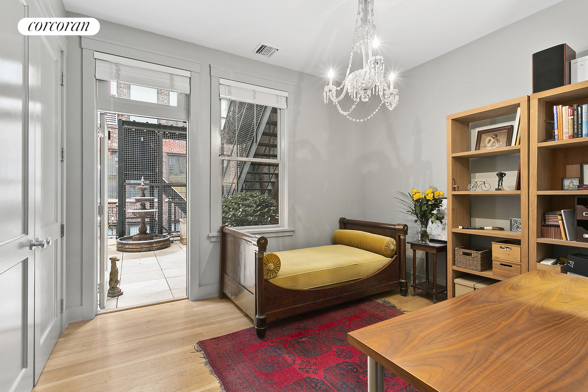 136 West 22nd Street, PH1, With two sets of French Doors and windows