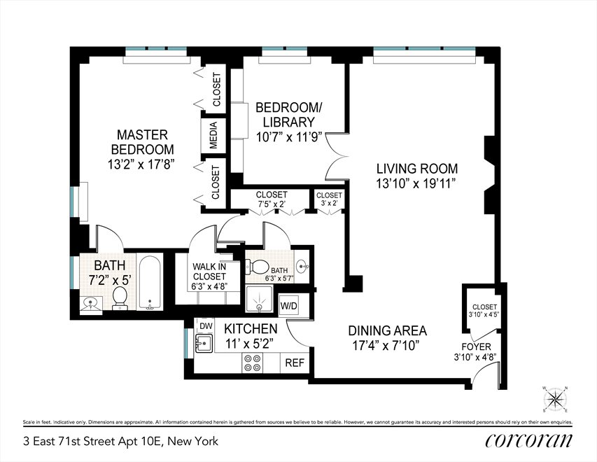 New York City Real Estate | View 3 East 71st Street, #10E | Floorplan