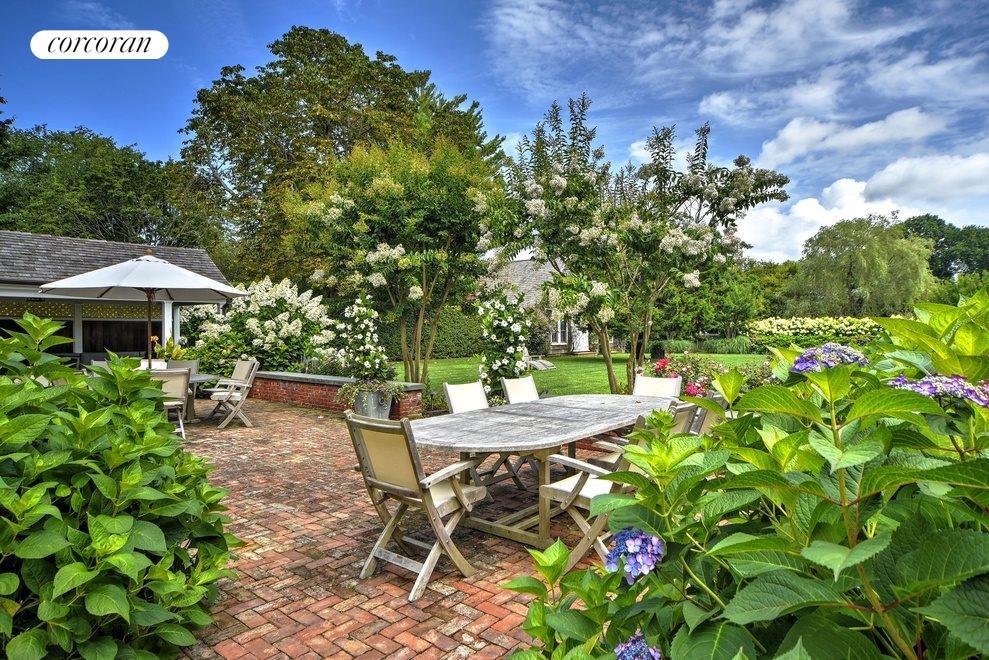 rear patio and gardens