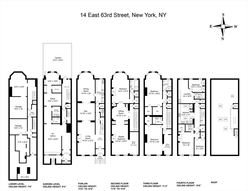 New York City Real Estate | View 14 East 63rd Street | Floorplan