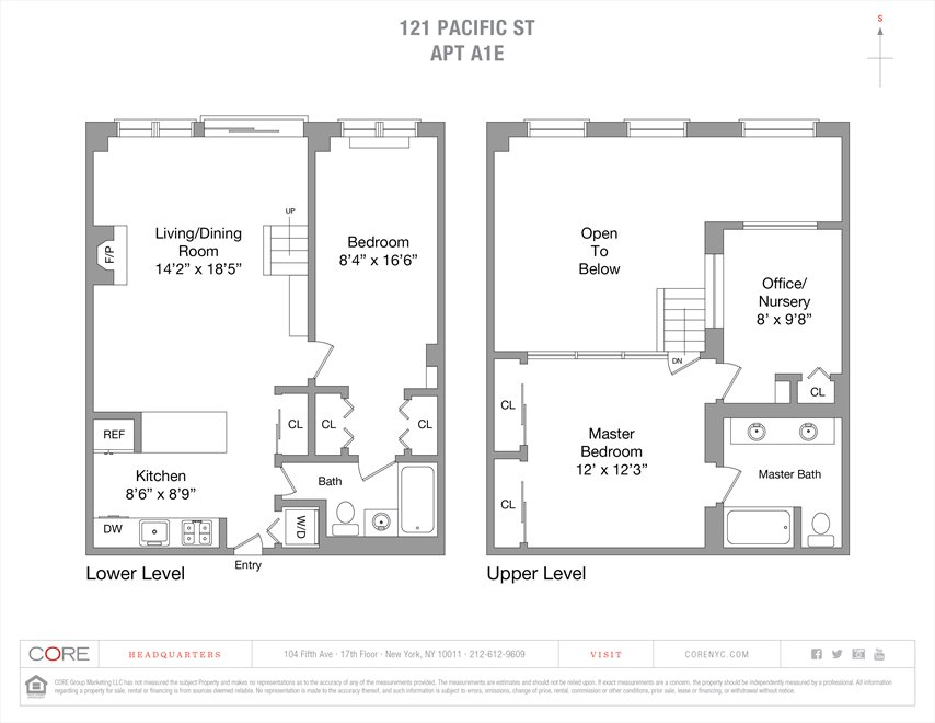 New York City Real Estate | View Pacific Street | Floorplan