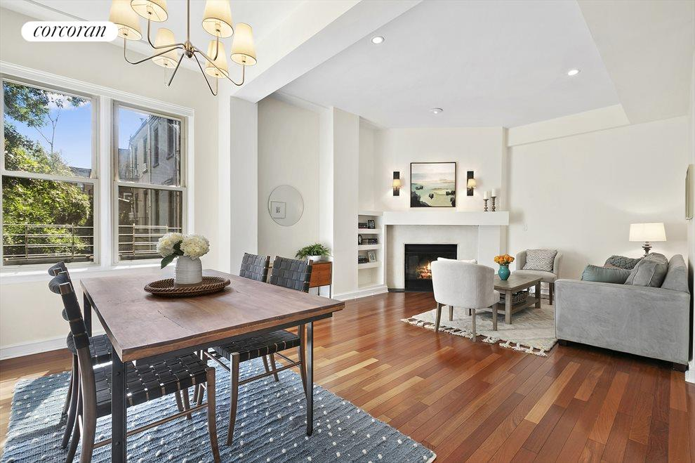 1-lg Living Room/Dining Area w/WBFPL