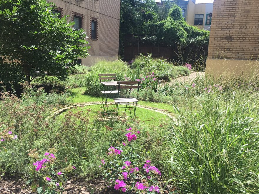 New York City Real Estate | View 80 Winthrop Street, #A3 | gorgeous common garden