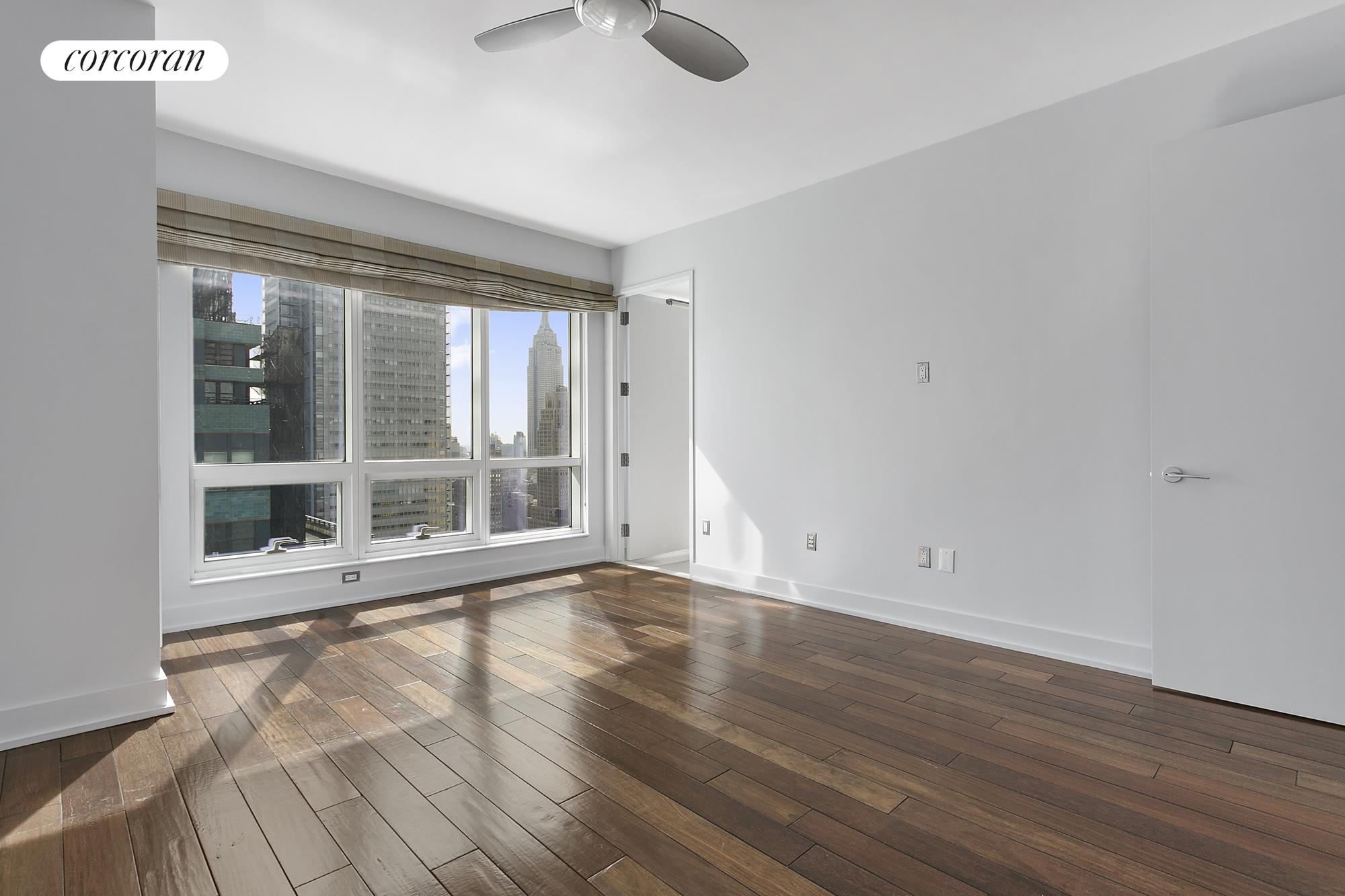 350 West 42nd Street, 44G, Virtually Staged Corner Living Room
