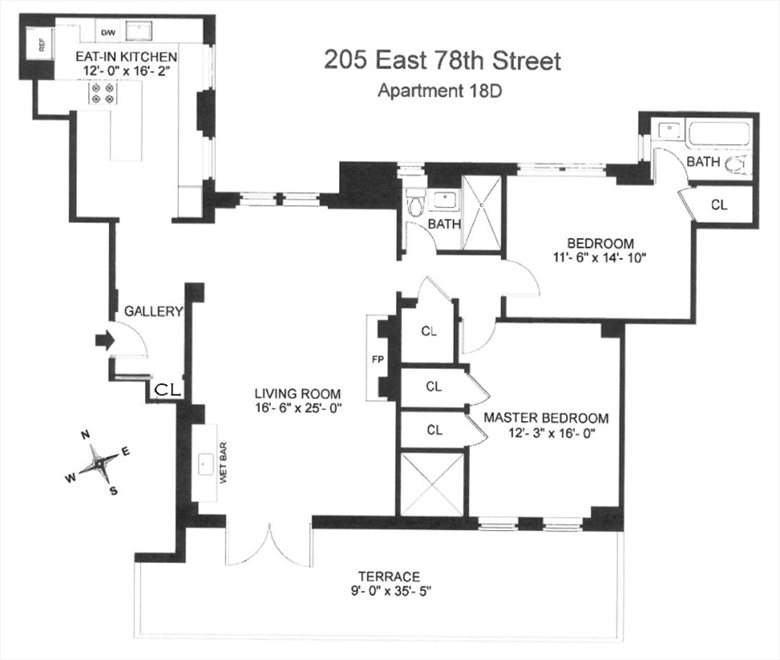 New York City Real Estate | View 205 East 78th Street, #18D | Floorplan