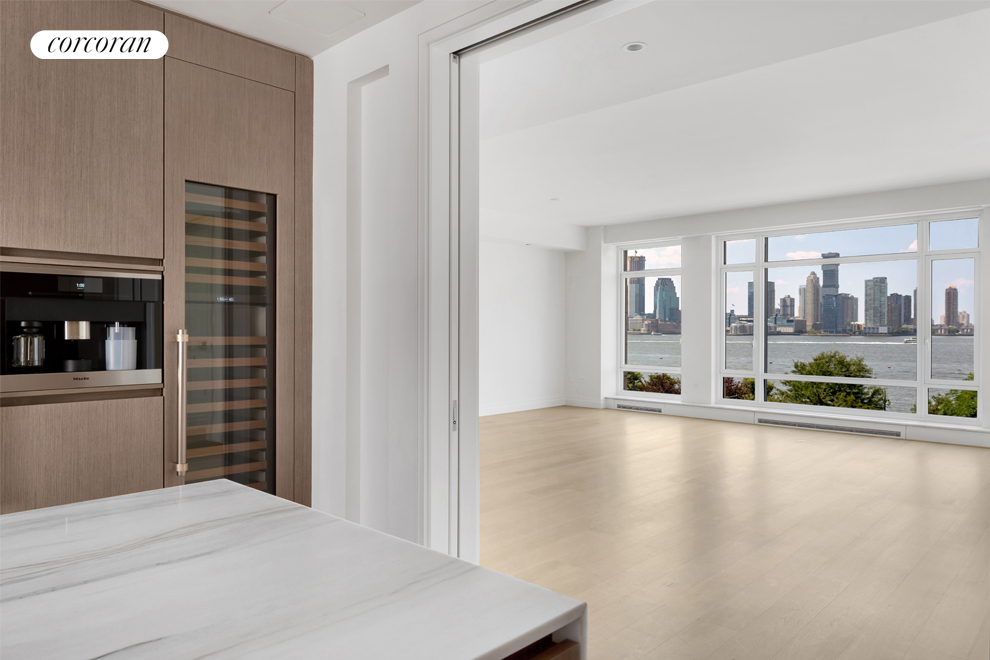 70 Vestry Street, 5D, Direct Hudson River Views from 28-foot Great Room
