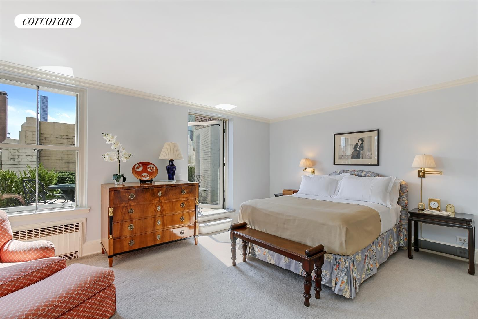 35 East 76th Street, 1708, Terrace with sweeping city views south and east