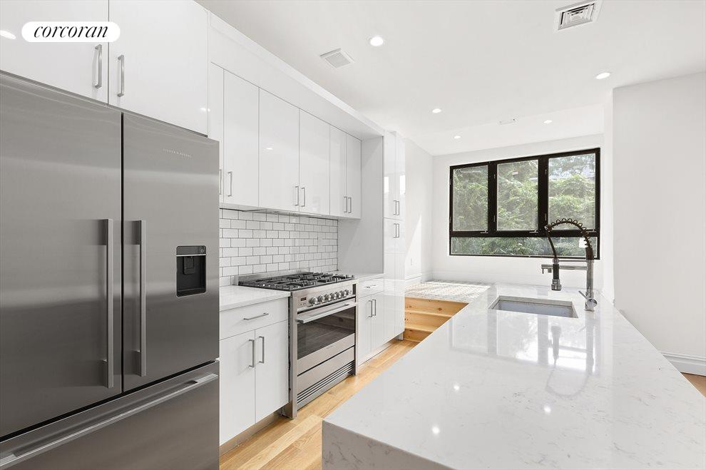 New York City Real Estate | View 85 Sackman Street | Kitchen with Breakfast Nook