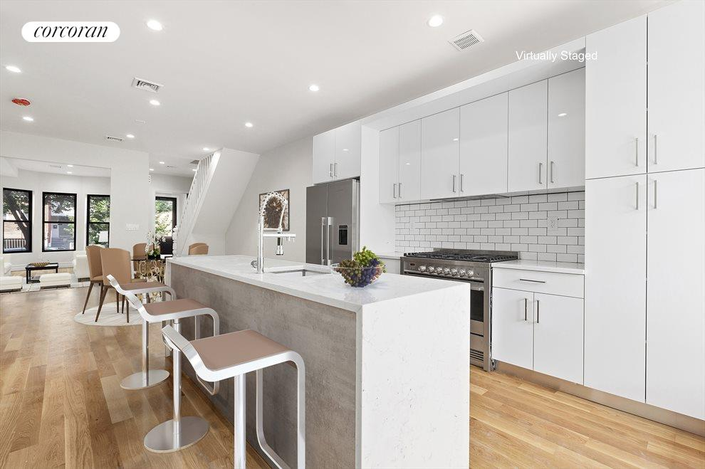 New York City Real Estate | View 85 Sackman Street | Kitchen and Dining