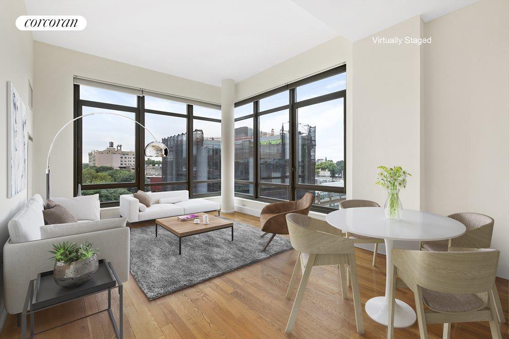 Impressive floor to ceiling corner windows