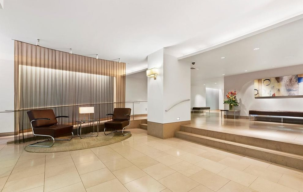 furnished lobby with full-time concierge