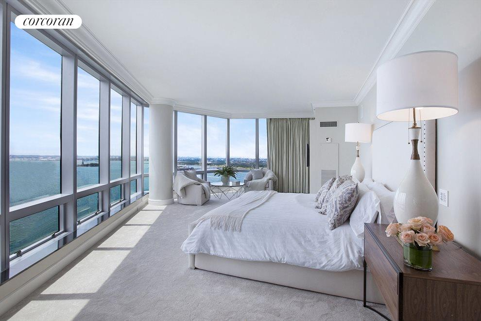 Oversized Master BR with Panoramic River Views