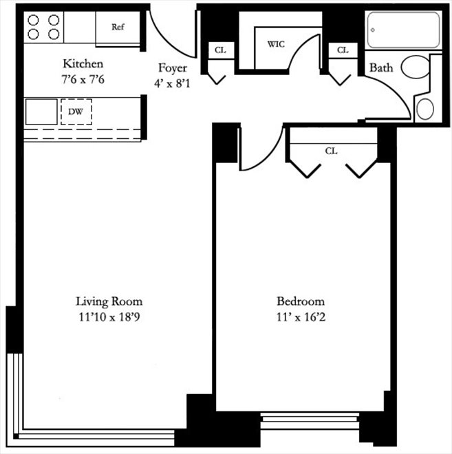New York City Real Estate | View West 50th Street | Floorplan