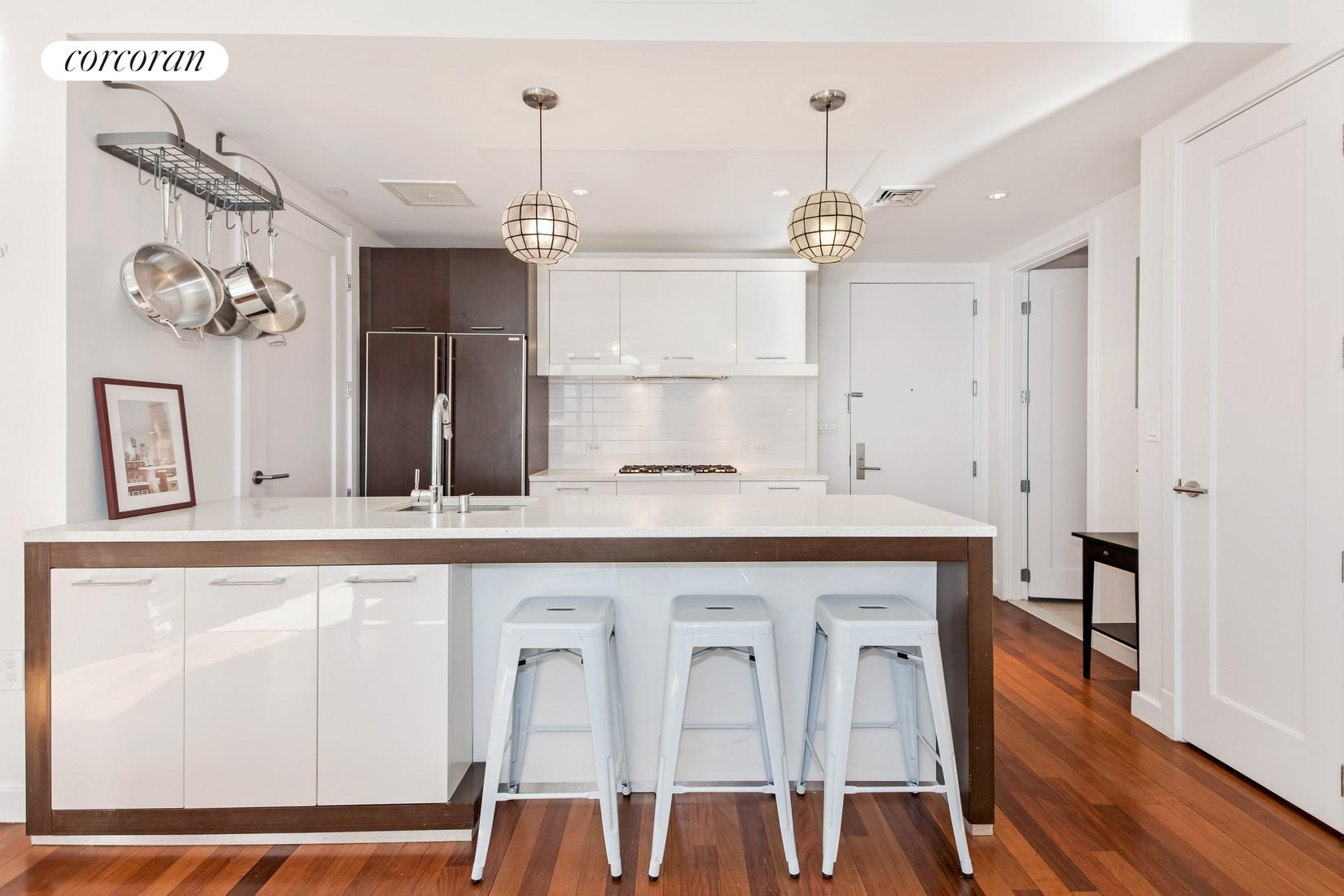 125 North 10th Street, North5F, large breakfast bar and stainless steel appliances