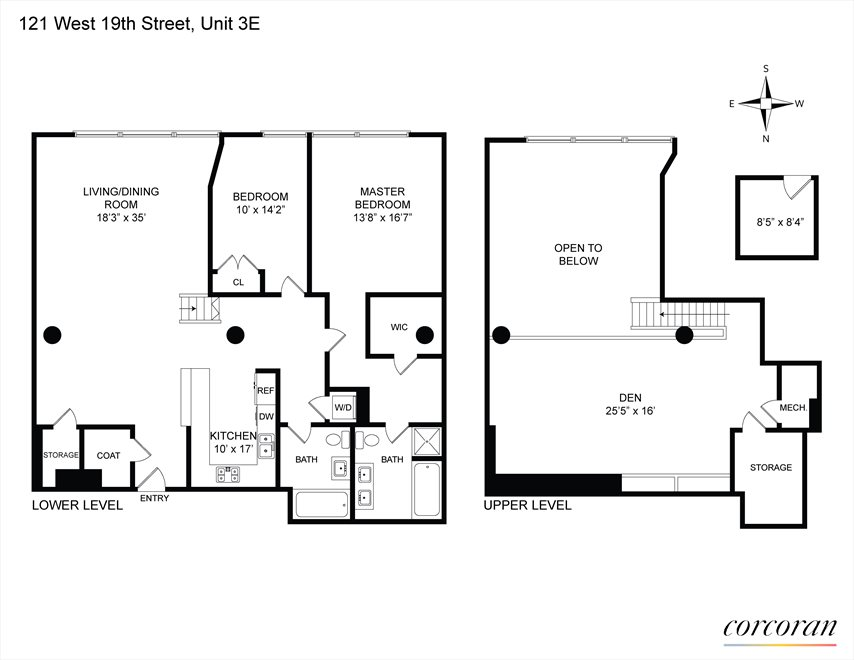 New York City Real Estate | View 121 West 19th Street, #3E | Floorplan