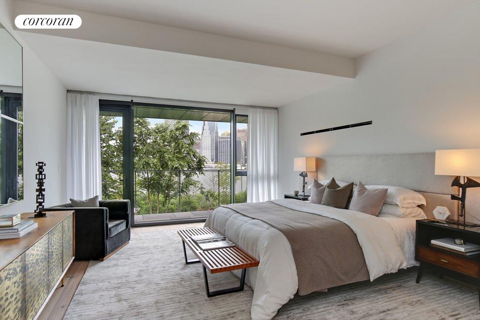 New York City Real Estate | View 130 Furman Street, #S111 | Master Bedroom