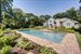 Sag Harbor, Heated pool surrounded by beautiful landscaping
