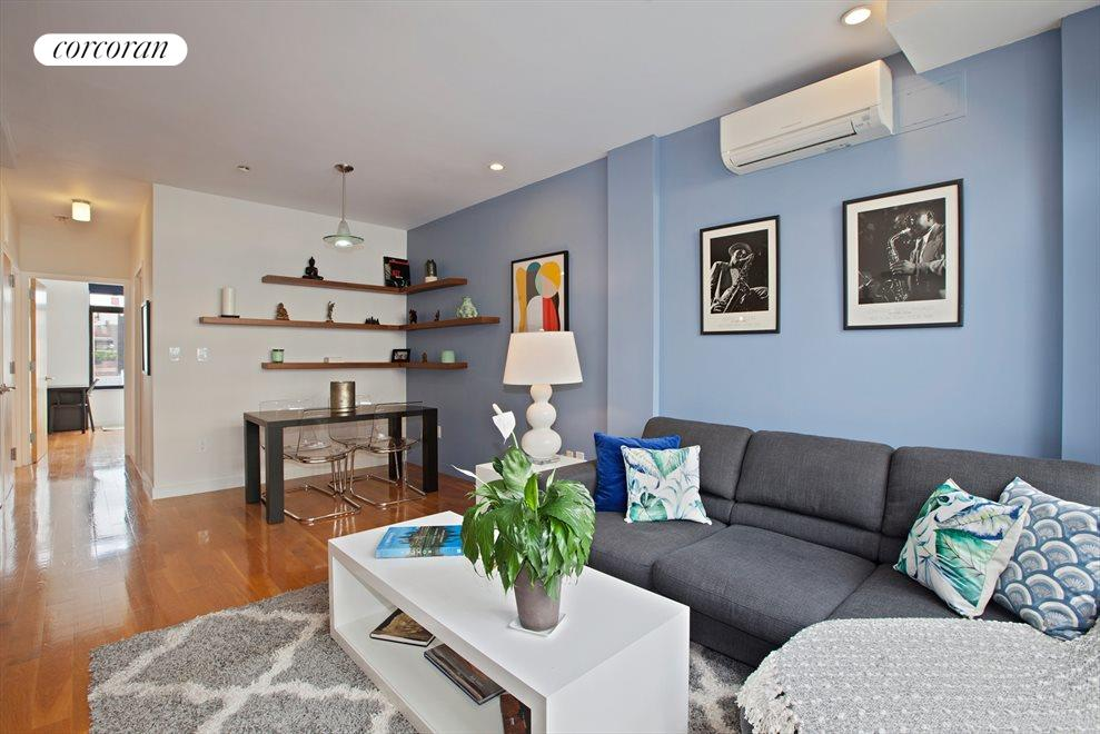 New York City Real Estate | View 14 Hope Street, #PHB | Living Room