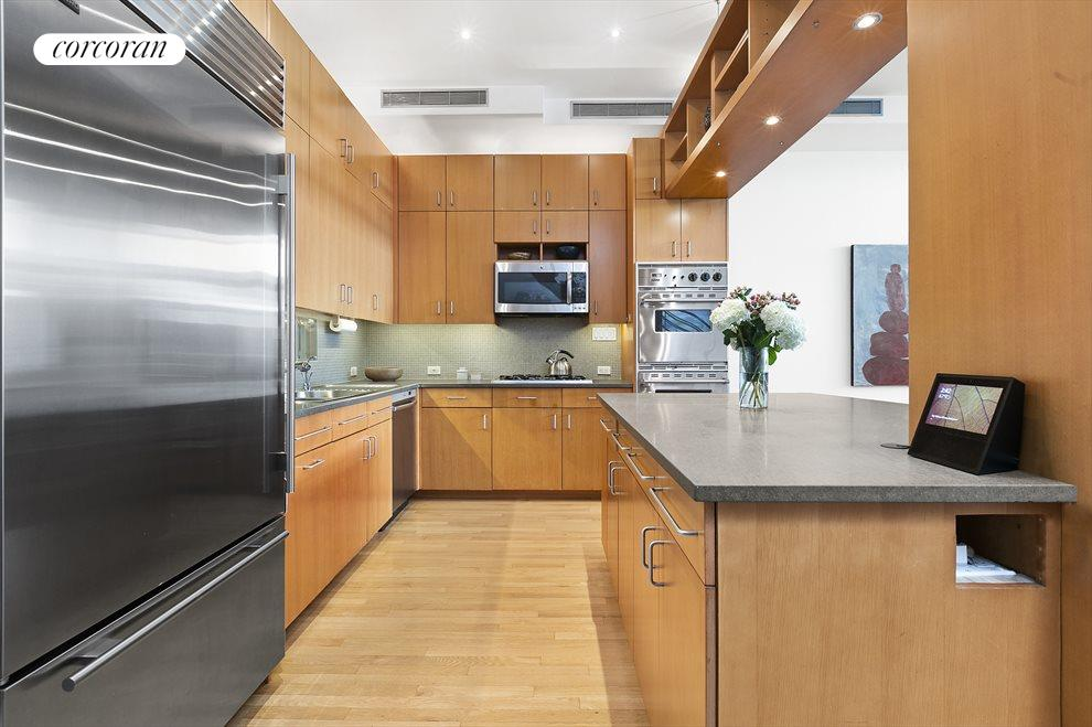 Copious cabinetry.