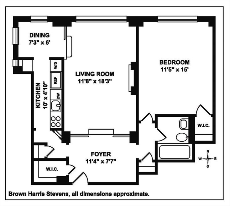 New York City Real Estate | View West 90th Street | Floorplan